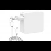 USB C Ladegerät,  61W USB C Adapter für Mac Book Pro, 61W Typ C Ladegerät inklusive USB C-Kabel Kompatibel mit Mac Book Air / Pro / Retina, iPad Pro, iPhone 11/11 Pro / Pro Max, HUAWEI, SAMSUNG